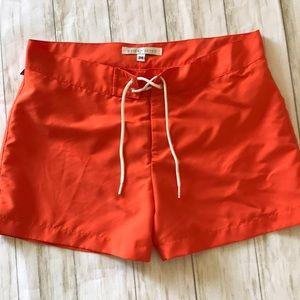 Parke & Ronan orange swim trunks